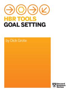 HBR Tools Goal Setting